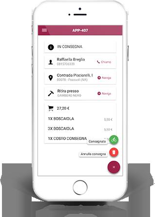 App Asporto e Consegna a Domicilio | Come Aumentare la Produttività dei Fattorini | IN CONSEGNA