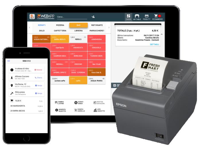 Software Gestionale per Asporto e Consegna a Domicilio Food Delivery Flusso